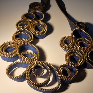 Jewelry - Handmade zipper necklace